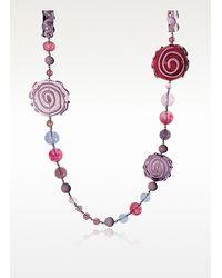 Antica Murrina - Purple Mignon Long Murano Glass Necklace - Lyst
