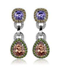 AZ Collection - Purple & Orange Clip-on Earrings - Lyst