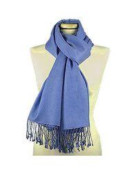 FORZIERI | Ocean Blue Pashmina & Silk Shawl | Lyst