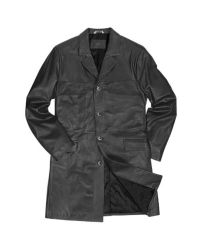 FORZIERI | Men's Black Italian Genuine Leather Coat for Men | Lyst