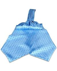 FORZIERI | Blue Polkdot Silk Ascot for Men | Lyst