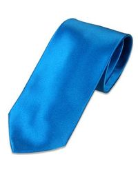 FORZIERI | Solid Blue Extra-long Tie for Men | Lyst