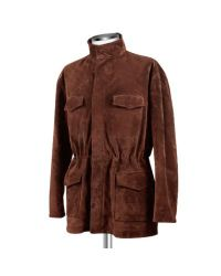 FORZIERI - Men's Brown Four Pocket Italian Suede Leather Jacket for Men - Lyst