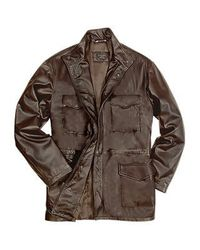 FORZIERI | Men's Dark Brown Italian Four-pocket Leather Jacket for Men | Lyst
