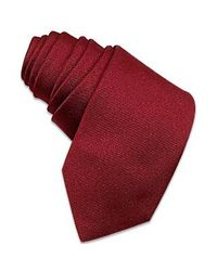 FORZIERI | Purple Solid Burgundy Twill Silk Narrow Tie for Men | Lyst