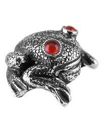 Forzieri Exclusives - Metallic Sterling Silver And Cornelian Frog Cufflinks for Men - Lyst