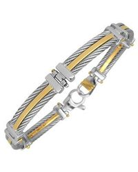 FORZIERI | Metallic 18-K Gold and Stainless Steel Link Bracelet for Men | Lyst