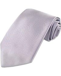 FORZIERI | Purple Lilac Solid Smooth Extra-long Pure Silk Tie for Men | Lyst