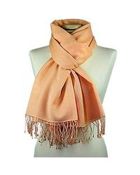 FORZIERI | Orange Peach Pashmina & Silk Shawl | Lyst