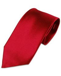 FORZIERI | Red Solid Silk Tie for Men | Lyst