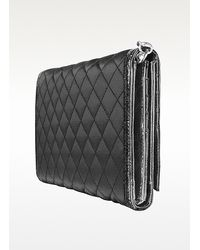 Guess | Black Popular - Quilted Signature Clutch Organizer | Lyst