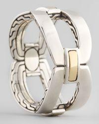 John Hardy - Metallic Classic Chain Gold Silver Link Band Ring - Lyst