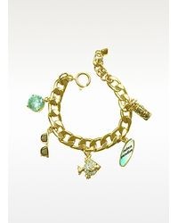 Juicy Couture | Metallic Fully Loaded Charm Bracelet | Lyst