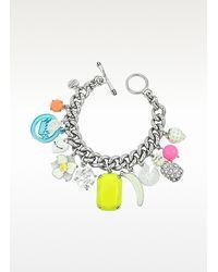 Juicy Couture | Metallic White Fruit Charm Bracelet | Lyst