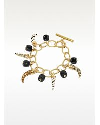 Just Cavalli - Metallic Amuleto Lucky Charms Toggle Bracelet - Lyst