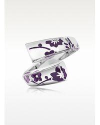 KENZO - Metallic Kyoto Violet Flower Sterling Silver Ring - Lyst