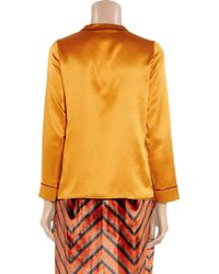 Marc By Marc Jacobs | Metallic Disco Silk-satin Blouse | Lyst