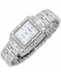 Raymond Weil - Metallic Parsifal Ladies Diamond Frame Mother Of Pearl Date Watch - Lyst
