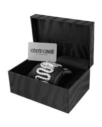Roberto Cavalli | Gray Cleopatra - Stainless Steel Snake Cuff Bracelet Watch | Lyst