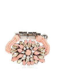 Shourouk | Pink Baraka Sierra Nude Bracelet | Lyst