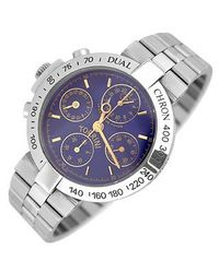 Torrini | Metallic Dualchhron - Dual Time Automatic Blue Chronograph Watch for Men | Lyst