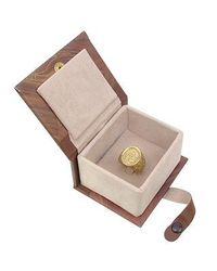 Torrini - Socrates - Engraved Oval Yellow Gold Men's Ring for Men - Lyst