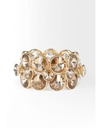 Bebe - Metallic Multi Faceted Glam Stretch Bracelet - Lyst