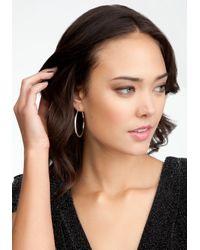 Bebe - Metallic Interlocked Logo Earring Set Web Exclusive - Lyst