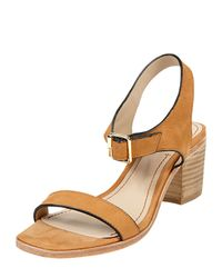 Elizabeth and James - Brown Ryann Tipped Leather Mid Sandal Cognac - Lyst