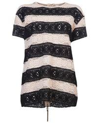 Il by Saori Komatsu | Black Strip Zip Sweater | Lyst