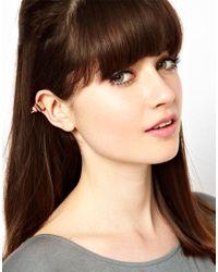 Maria Francesca Pepe | Metallic Crystal Stud Ear Cuff | Lyst