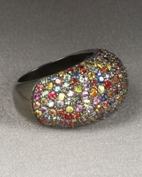 M.c.l  Matthew Campbell Laurenza | Metallic Stardust Pave Sapphire Ring Multicolor | Lyst