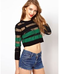 Viva Vena - Green City Life Cropped Jumper in Chenile - Lyst