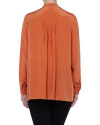 Chloé - Orange Long Sleeve Shirt - Lyst