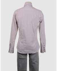 Guess - Brown Long Sleeve Shirt for Men - Lyst
