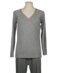 Taviani | Gray V-neck for Men | Lyst