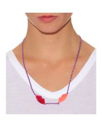 Aurelie Bidermann Purple Special Lips Charm Necklace
