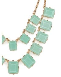BaubleBar | Green Double Chiclet Strand | Lyst