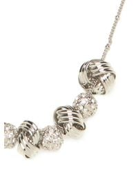 BaubleBar | Metallic Silver Disco Knot Necklace | Lyst