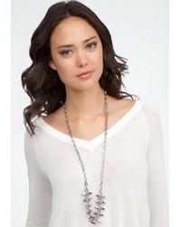 Bebe - Metallic Chain Spike Long Necklace - Lyst