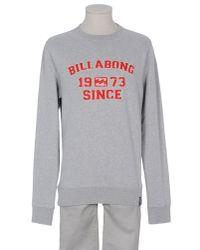 Billabong - Gray Sweatshirt for Men - Lyst