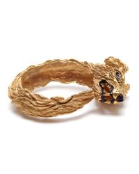 Duffy - Metallic Hand-made Gold Plated Wolf Cuff - Lyst