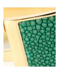 Fendi - Green Logo Cuff with Stingray Leather - Lyst