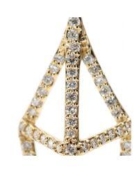 House of Waris | Lantern 18kt Yellow Gold Drop Earrings With White Diamonds | Lyst