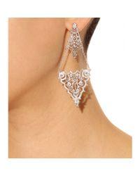 Iam By Ileana Makri | Metallic Chantilly Lace Chandelier Earrings | Lyst