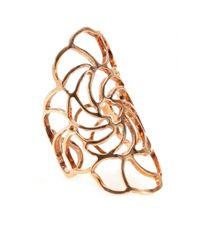Ileana Makri - Metallic 18kt Rose Gold Lace Ring - Lyst