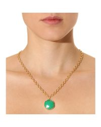 Irene Neuwirth - Green 18kt Yellow Gold Necklace With Rose Cut Chrysoprase And White Diamond - Lyst