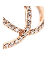 Jacquie Aiche - Pink 14kt Rose Gold Pave White Diamond Overlap Circle Eternity Ring - Lyst