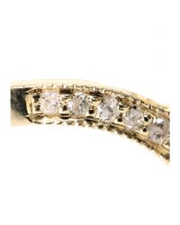Jacquie Aiche | Metallic 14kt Yellow Gold Ring With Pavé Diamonds | Lyst
