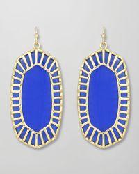 Kendra Scott | Blue Delilah Large Drop Earrings | Lyst